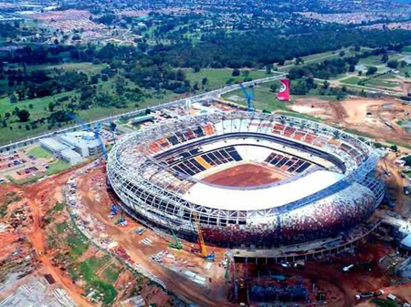 Soccer City Stadion in Soweto - Austragungsort der FIFA WM 2010 in Südafrika. Foto: South African Tourism